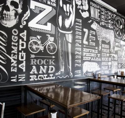 Decoración Bar/Restaurante La Zarzaparrilla - Portfolio tresatres