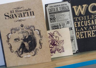 cartas restaurante en madera y cartón - Portfolio tresatres