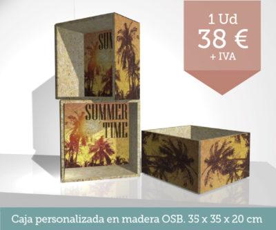 Promoción cajas madera - Promoción tresatres